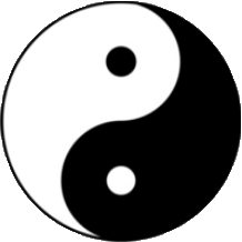 Black-and-white symbol of the Tao